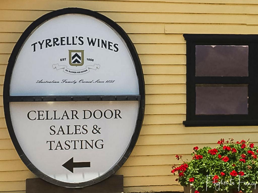Long weekend in teh Hunter Valley Tyrrell's Estate Cellar Door