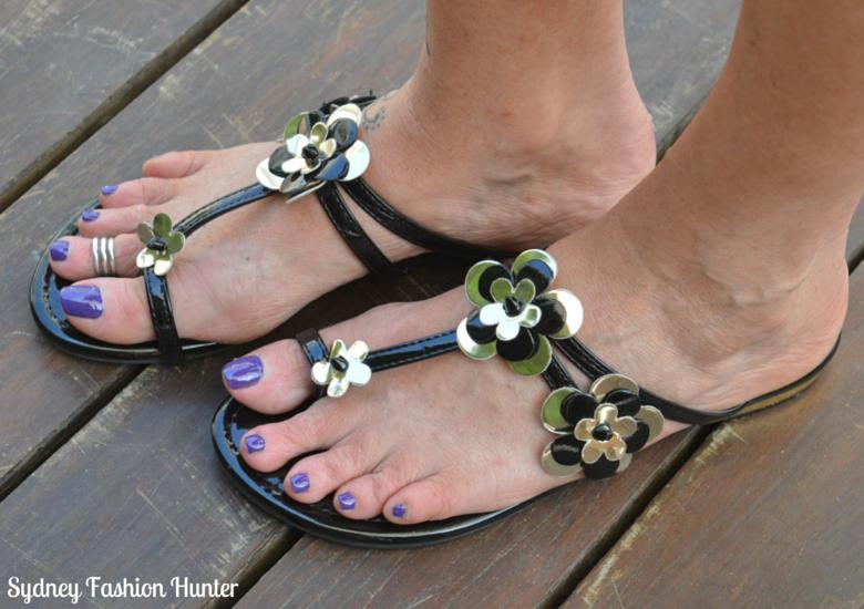 Black & Silver Sandals