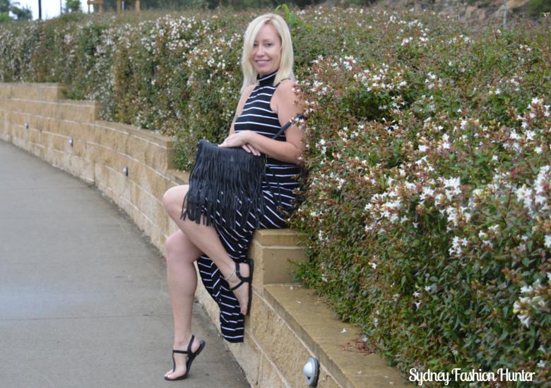 Sydney Fashion Hunter Fringed Bag Sitting
