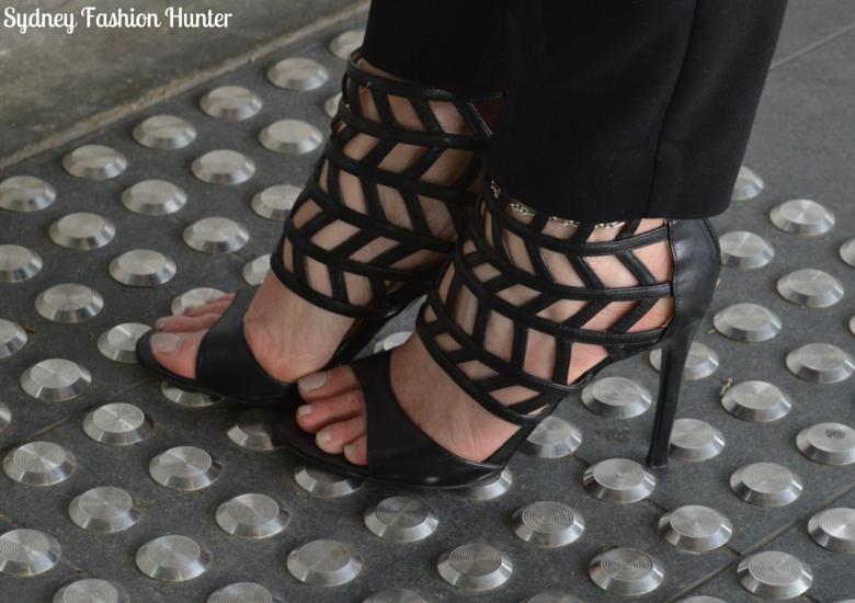 Sydney Fashion Hunter: Fresh Fashion Forum #26 - Showpo Cape Coat Black Gladiator Sandals