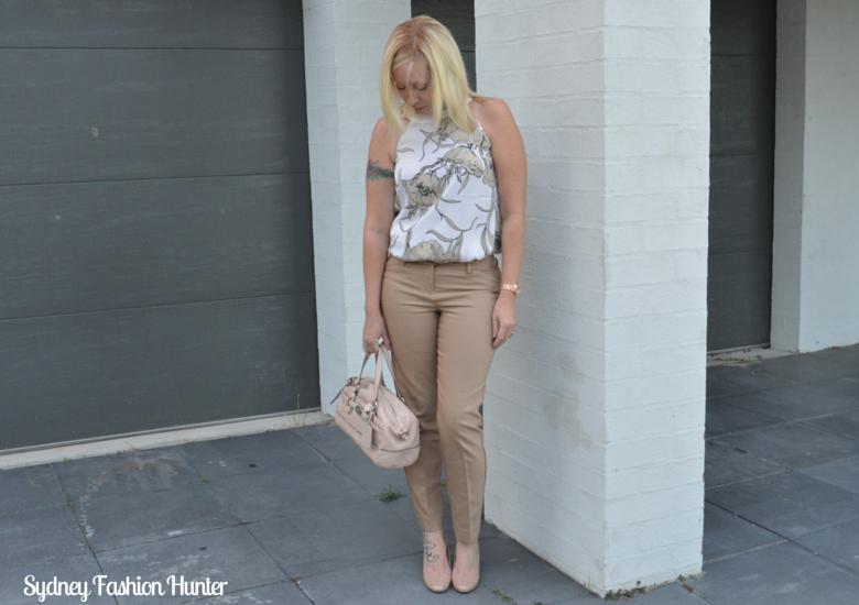 Sydney Fashion Hunter Fresh Fashion Forum #27 - Camel Pants + Floral Top