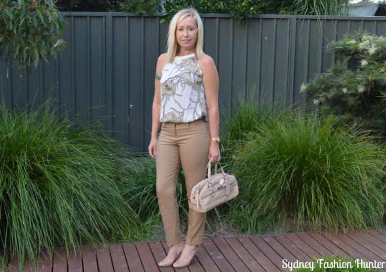 Sydney Fashion Hunter Fresh Fashion Forum #27 - Camel Pants + Floral Halter