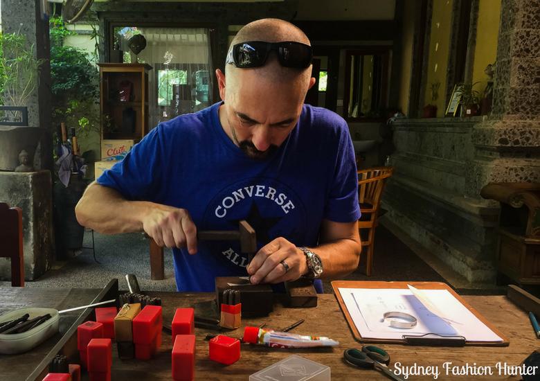 Man making jewellery in Bali