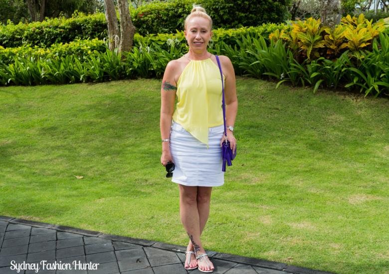 Sydney Fashion Hunter: Fresh Fashion Forum 42 -Asymmetric Yellow Halter Top Front