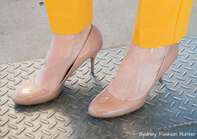 Fash Packing by Sydney Fashion Hunter: Fresh Fashion Forum 48 - Bright Yellow Wool Coat Nude pumps