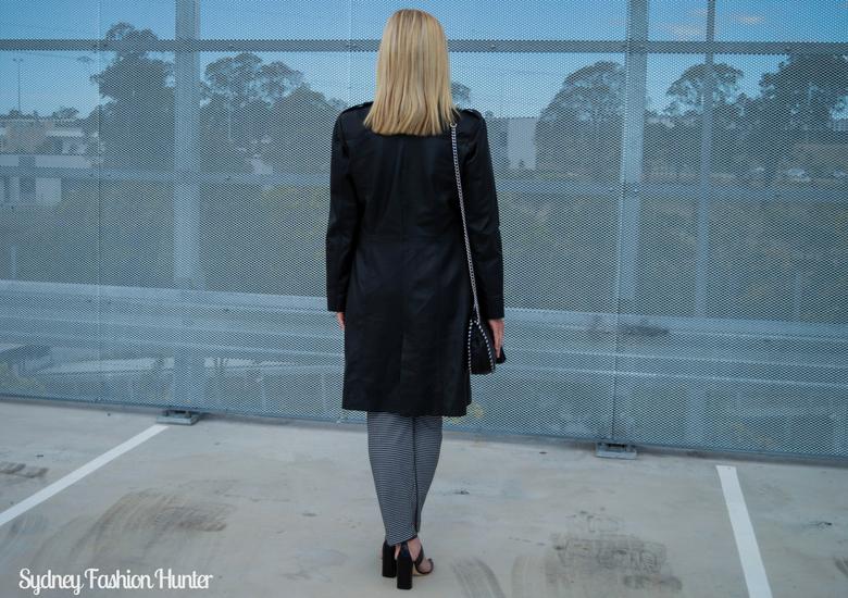 Sydney Fashion Hunter: Fresh Fashion Forum 46 - Black Leather Coat - Back