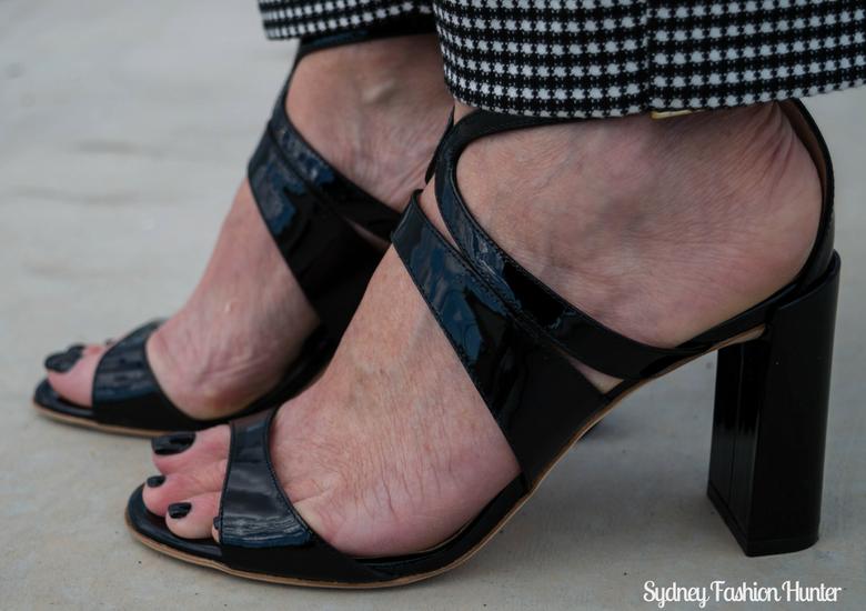 Sydney Fashion Hunter: Fresh Fashion Forum 46 - Black Leather Coat - Black Patent Furla Sandals