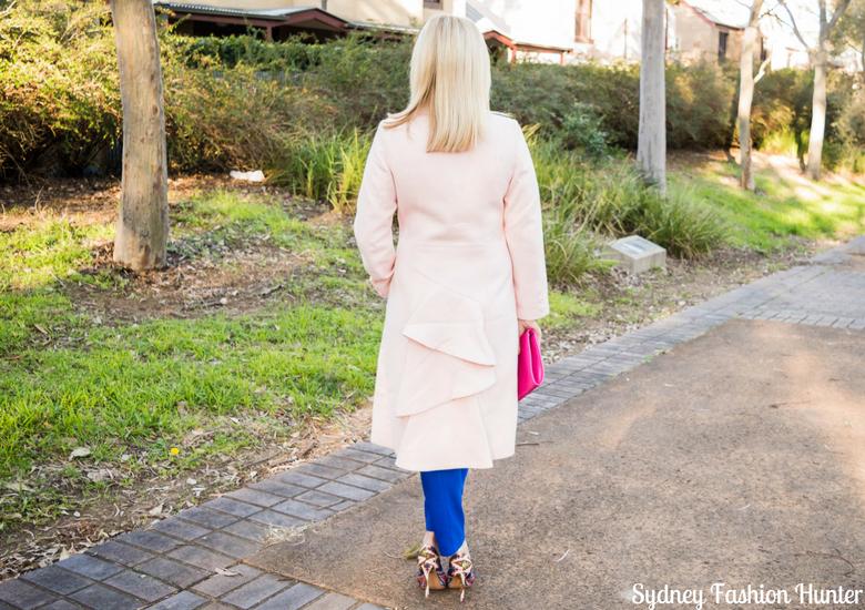 Sydney Fashion Hunter: Fresh Fashion Forum #46 - Pink Waterfall Coat - Back