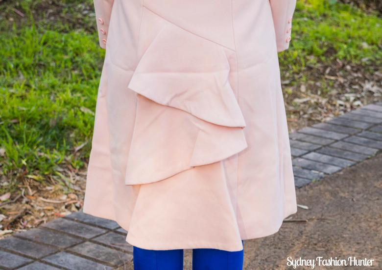 Sydney Fashion Hunter: Fresh Fashion Forum #46 - Pink Waterfall Coat - Coat Detail
