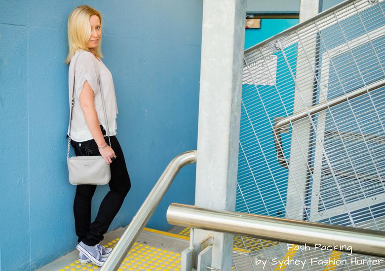Fash Packing by Sydney Fashion Hunter: Grey Mesh Crop Top - Side