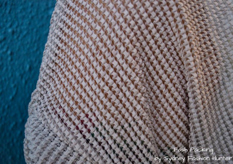 Fash Packing by Sydney Fashion Hunter: Grey Mesh Crop Top - Zara Grey Mesh Crop Top Detail