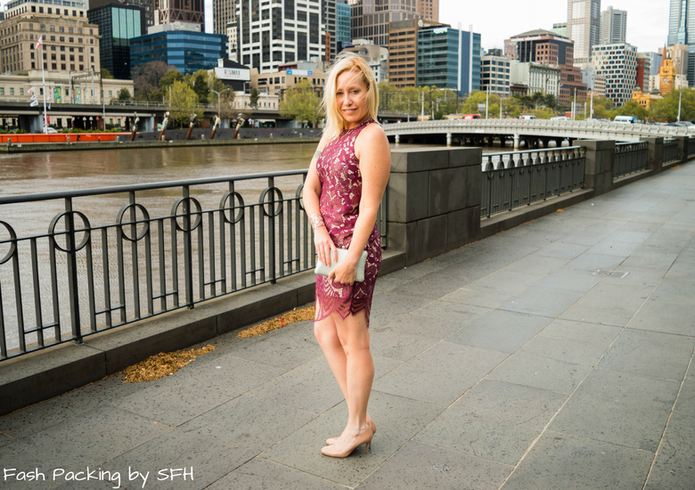 Fash Packing by Sydney Fashion Hunter: Fresh Fashion Forum 53 - Ruby Lace Dress - Side