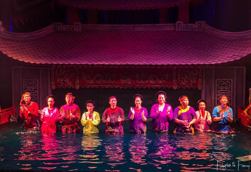 Cast Vietnamese Water Puppet Show Hanoi
