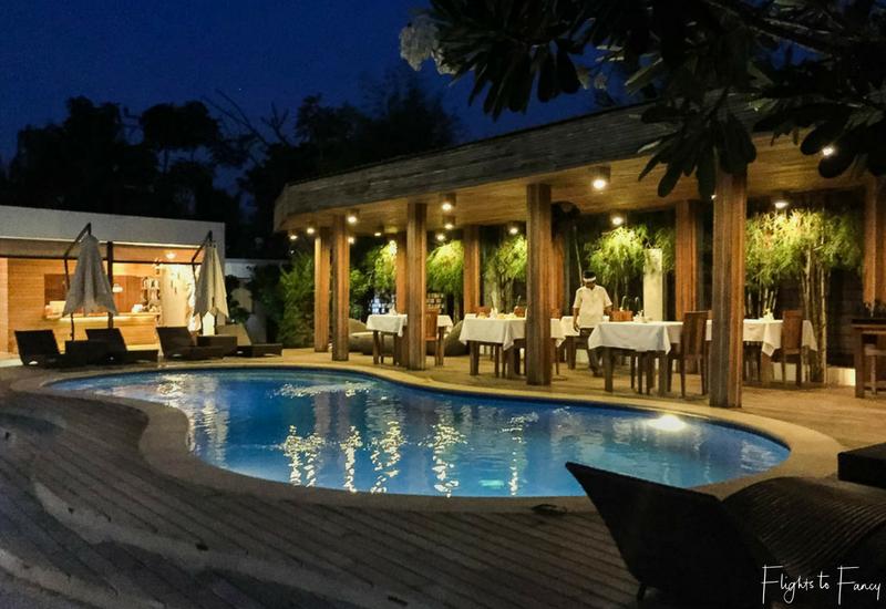 An evening swim beckons at Nero Villa Gili Trawangan