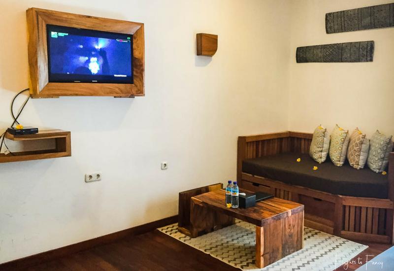 Living Room at our Gili Trawangan accommodation