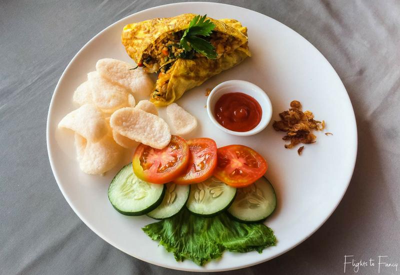 Nasi Goreng breakfast style at Nero Gili Trawangan Villas