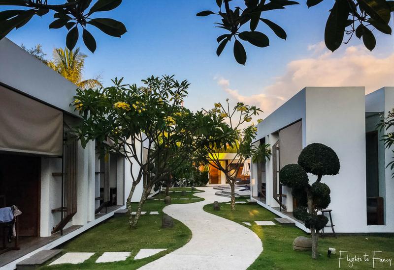 Tropical gardens at our Gili Trawangan Villas