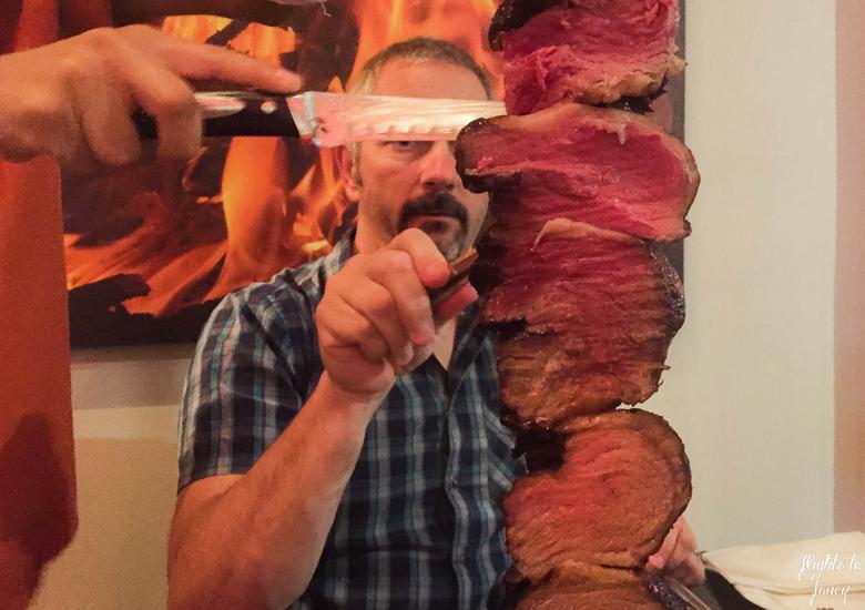 Flights To Fancy: Bushfire Flame Grill Cairns - Beef Skewer