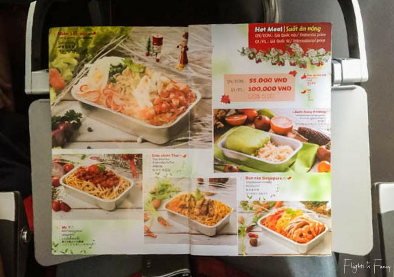 Flights To Fancy: Vietjet Air A320 Domestic Economy - Menu