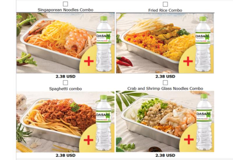 Vietjet Meal Options