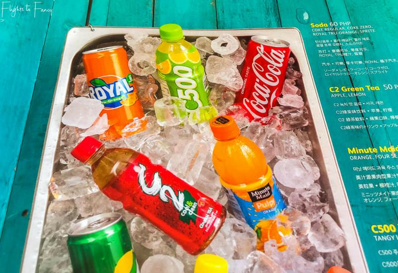 Cebu Pacific International Inflight Drinks Menu