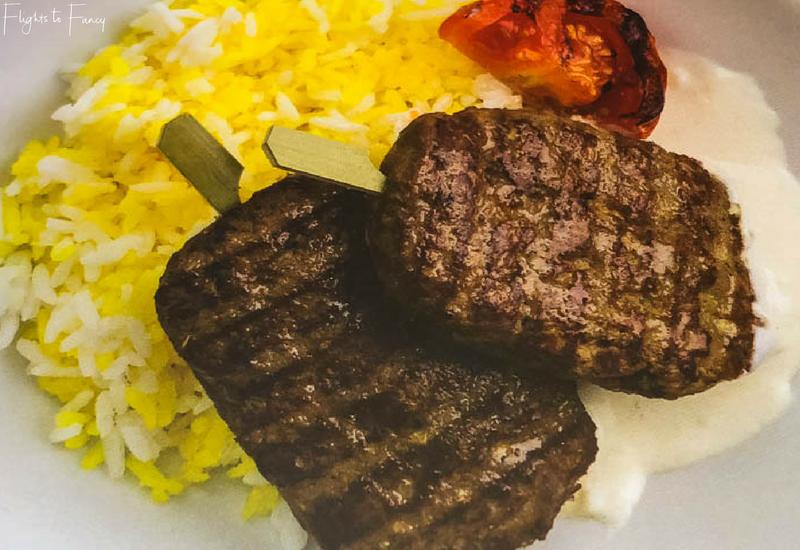 Cebu Pacific International Inflight Menu - Beef Chelo Kebab