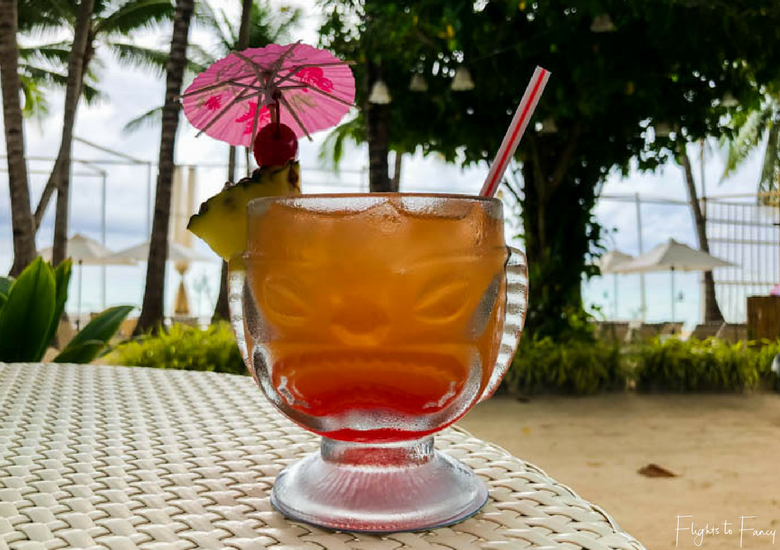 Cheeky Mai Tai beachfront at Coast Boracay - Flights To Fancy at Coast Boracay