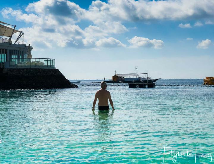 Early morning swim at our fabulous Cebu Beach Resorts Movenpick Mactan Island - Flights to Fancy