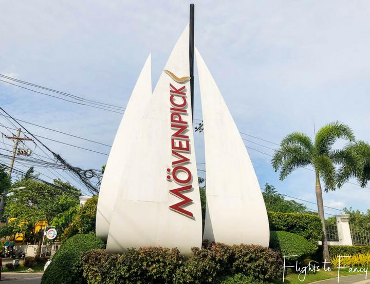 Entrance to Movenpick Hotel near Mactan Cebu Airport - Flights to Fancy