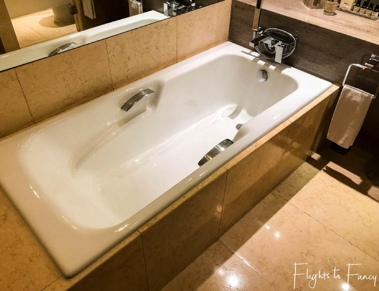Flights to Fancy - Fairmont Makati Bathroom