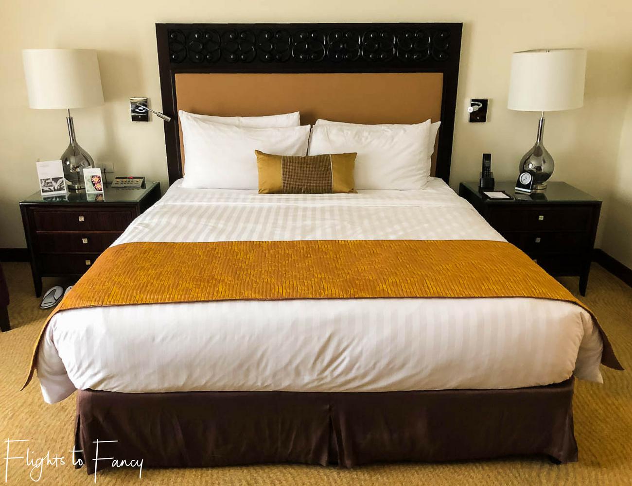 Flights to Fancy - Fairmont Makati Bedroom