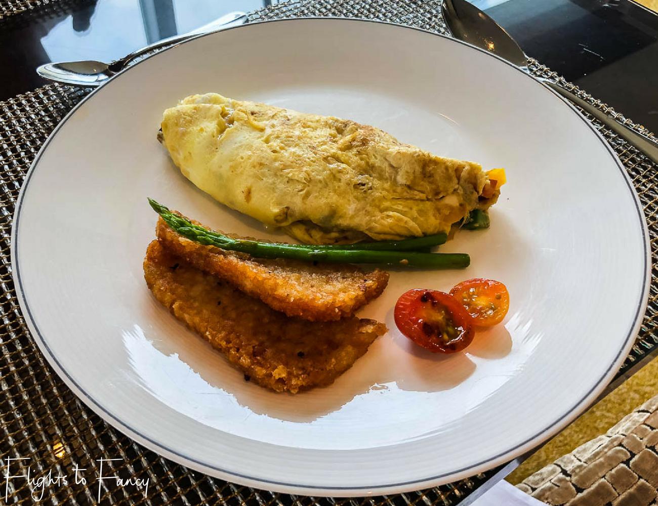 Flights to Fancy - Fairmont Makati Gold Lounge Breakfast Omelette