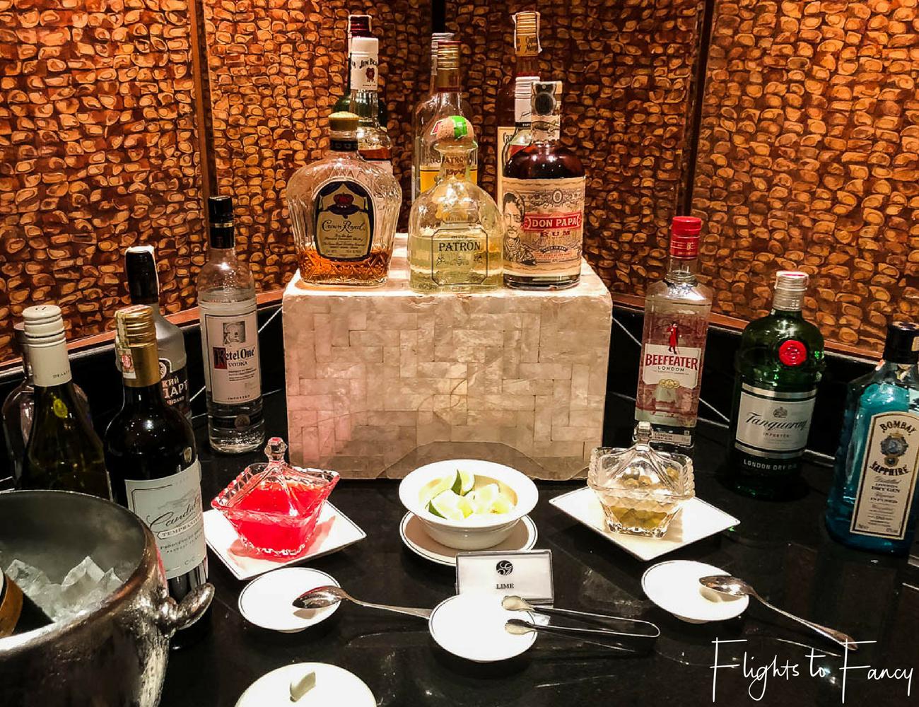 Flights to Fancy - Fairmont Makati Gold Lounge Spirits Bar