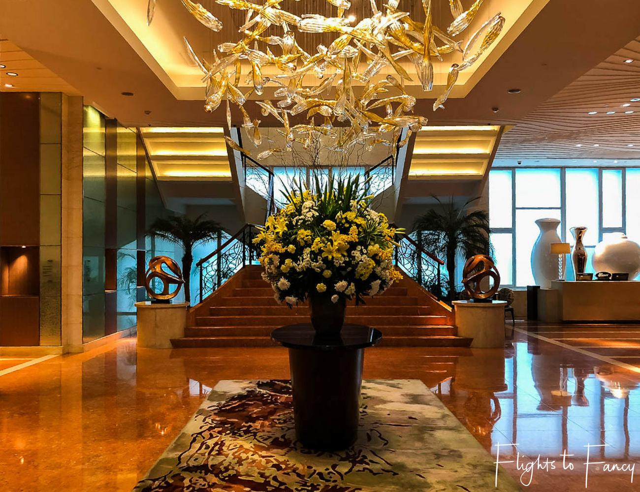 Flights to Fancy - Fairmont Makati Lobby