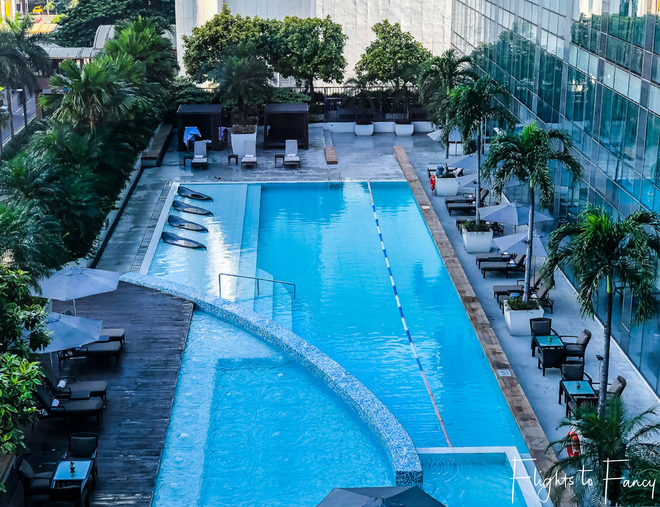 Flights to Fancy - Fairmont Makati Pool