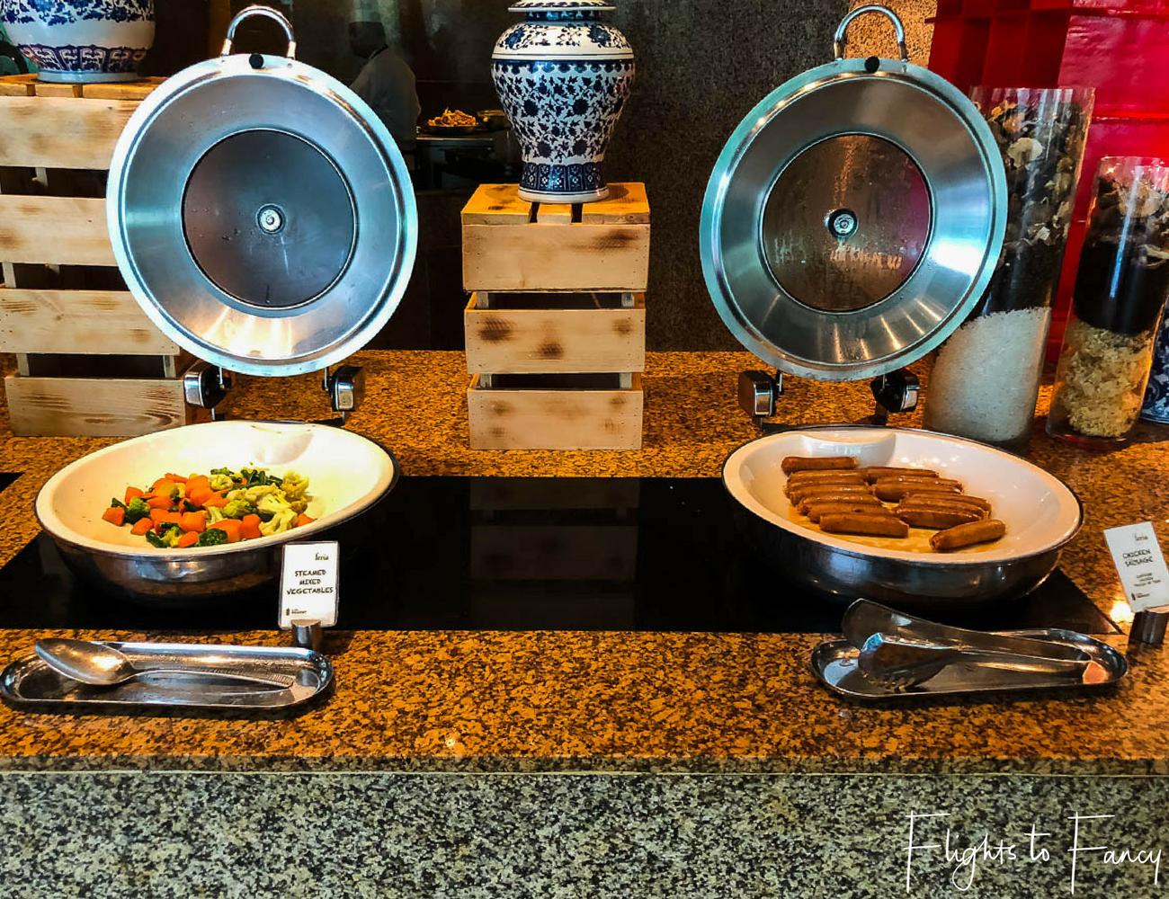 Hotel near SM Cebu City - Radisson Blue Cebu Buffet Breakfast Chicken Sausages and Vegetables by Flights to Fancy