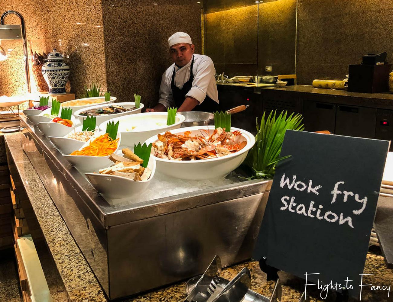 Hotel near SM Cebu City - Radisson Blue Cebu Dinner Buffet Feria Restaurant Wok Fry Station by Flights to Fancy