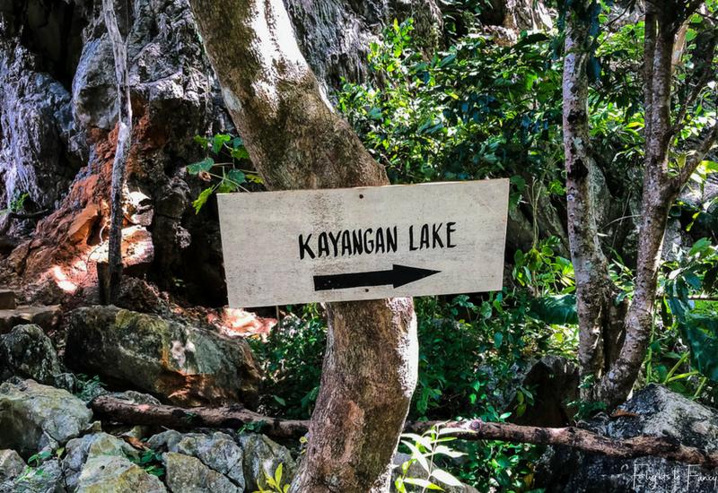 Island Hopping Coron: Kayangan Lake Sign