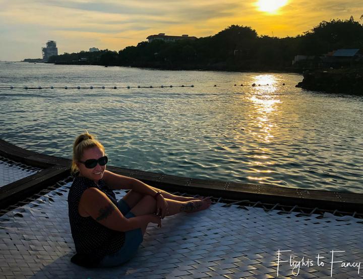 Sunset at Ibiza Beach Resort in Mactan Island Cebu Philippines - Flights to Fancy