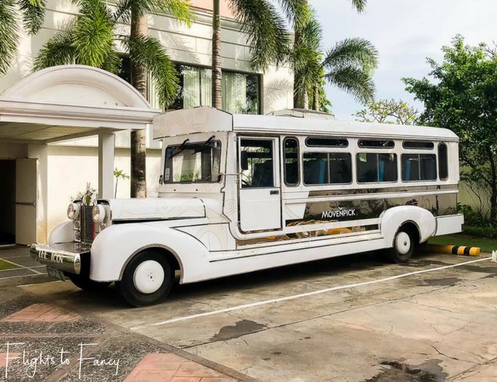 The coolest Jeepney ever at Movenpick Hotel Mactan Island Cebu Philippines - Flights to Fancy