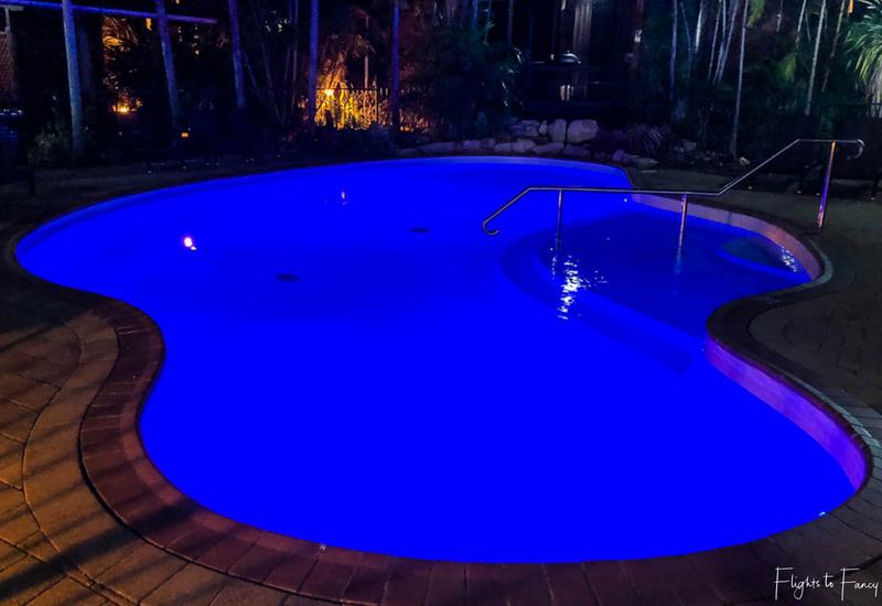 Palms City Resort Darwin - Pool at Night