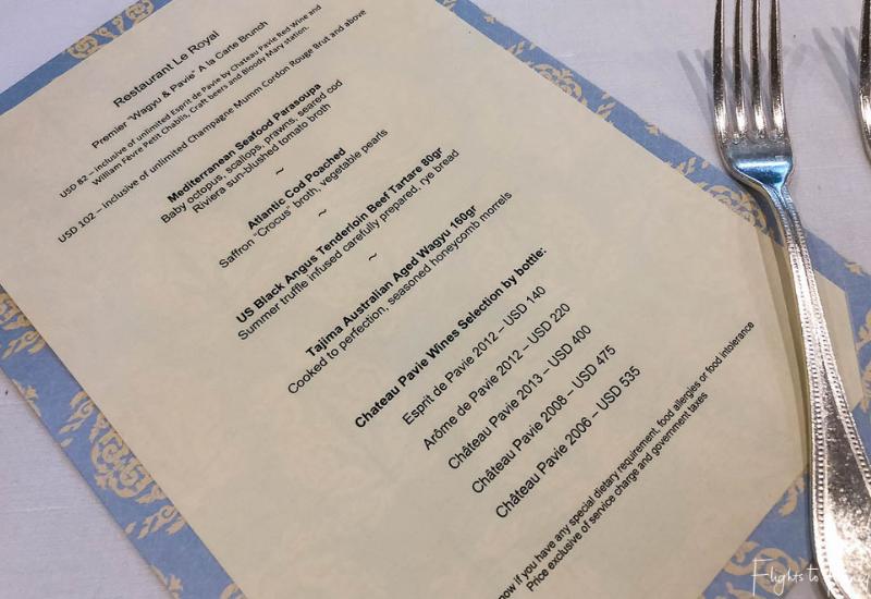 Al la carte menu premium brunch Phnom Penh Raffles Hotel Restaurant