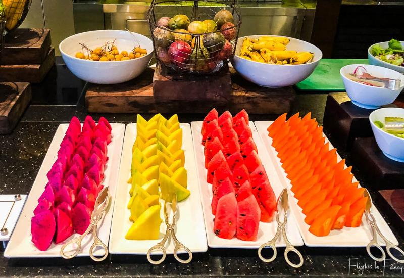 Assorted Fruit on the Siem Reap Breakfast Buffet at Park Hyatt Siem Reap Luxury Hotel