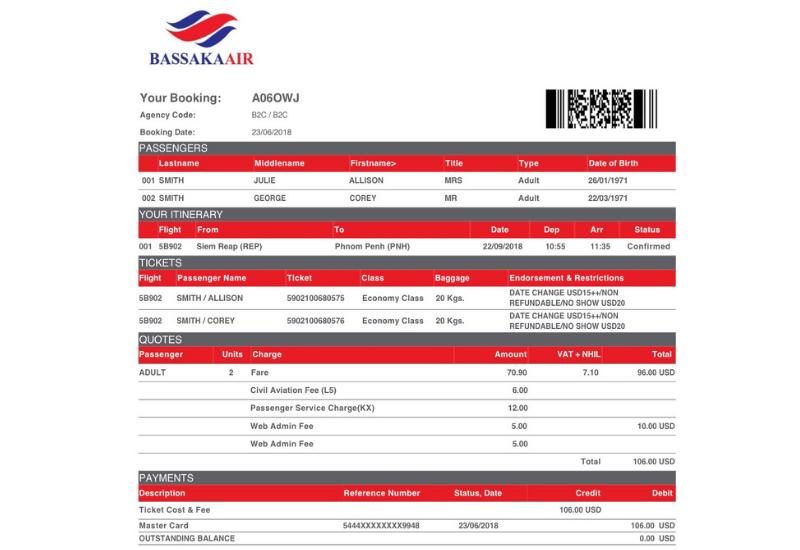 Bassaka Air Review_ Booking Details