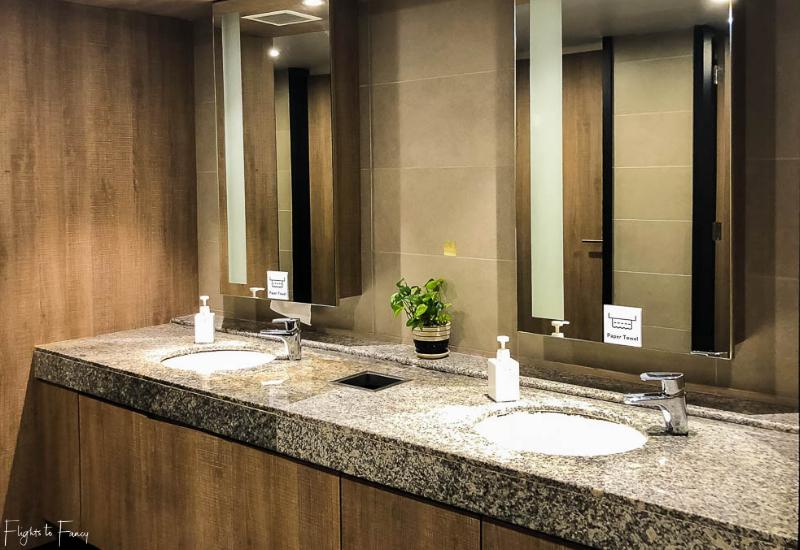 Bathroom at Plaza Premium Lounge Phnom Penh Airport