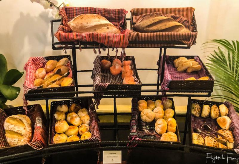 Bread station at breakfast in Phnom Penh at Raffles Hotel Le Royal