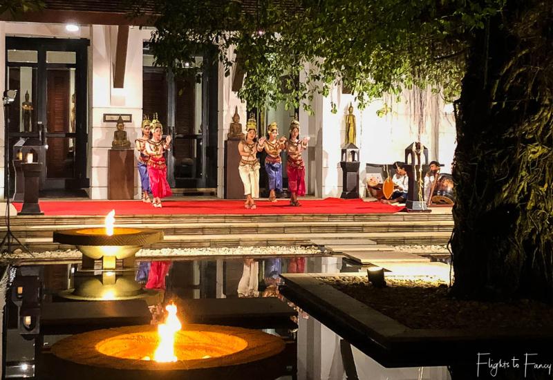 Cambodian dancers at Park Hyatt Siem Reap Restaurant