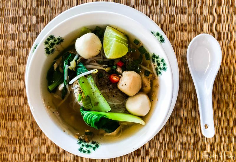 Chicken & noodles for Breakfast in Phnom Penh @ Raffles Hotel Le Royal