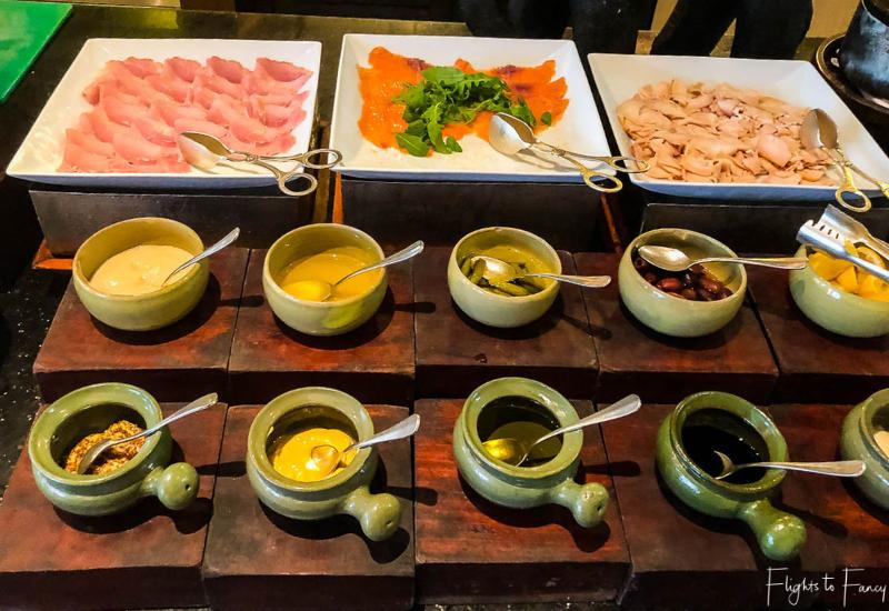 Cold meat platters on the Siem Reap Breakfast Buffet at Park Hyatt Siem Reap Luxury Hotel