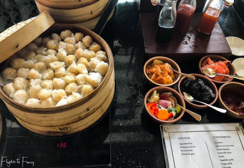 Dim Sum Breakfast buffet at the Park Hyatt luxury hotel Siem Reap